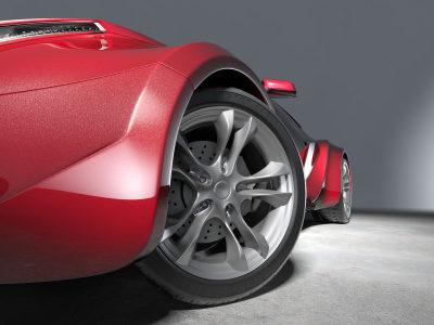 UHP-Reifen an einem Sportwagen