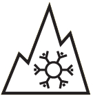 Alpine-Symbol (Bergpiktogramm mit Schneeflocke)