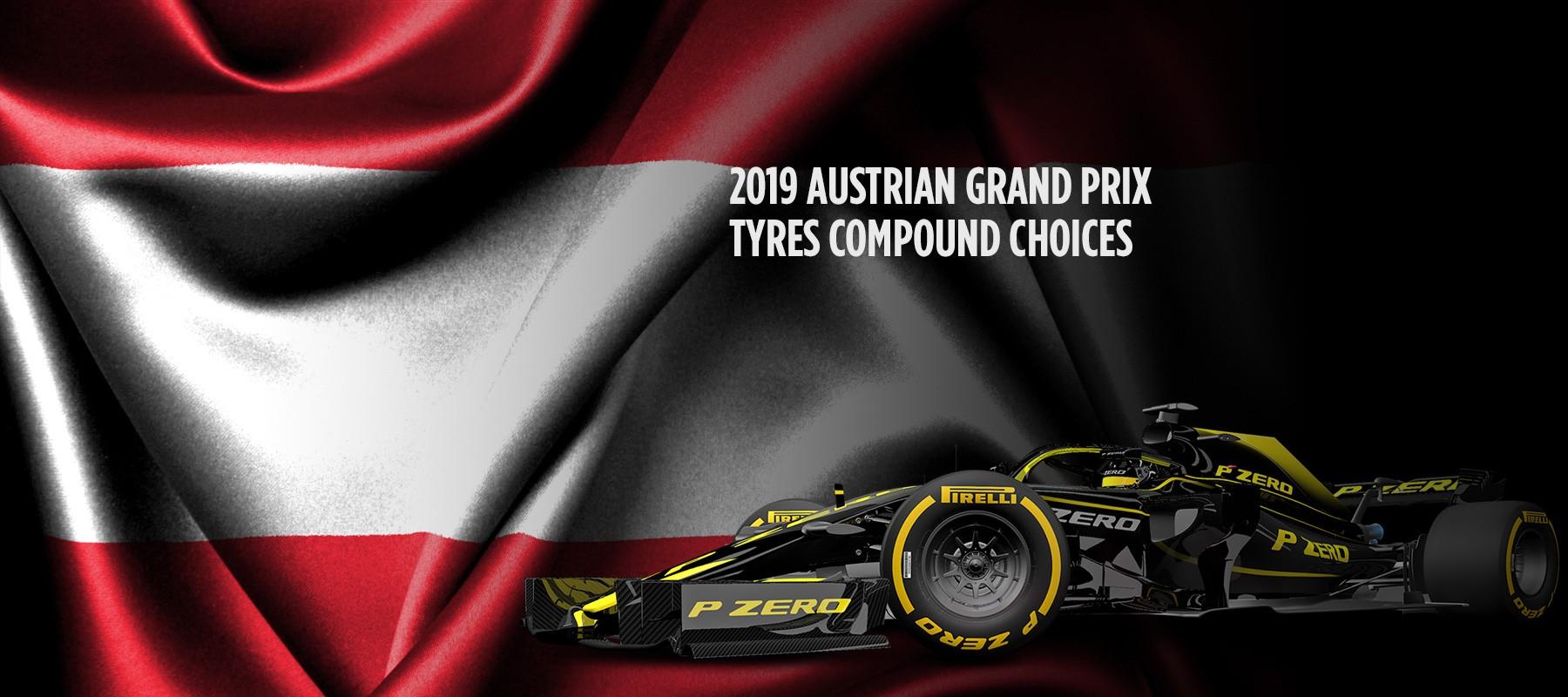 Pirelli ha nominato le seguenti mescole per il Gran Premio d'Austria