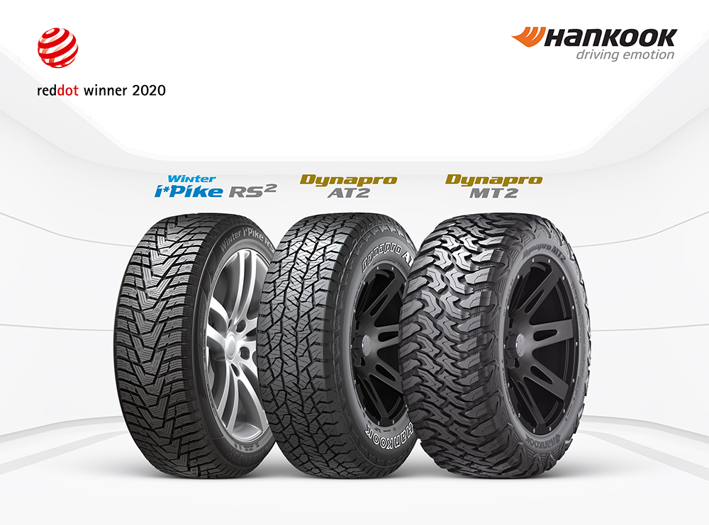 Hankook Tyre recognized as 'Winner' of the Red Dot Award 2020 for multiple products