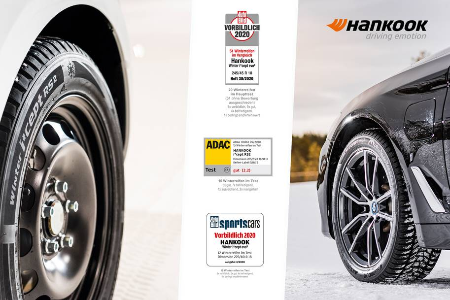 Hankook winter tyres impress in independent tests