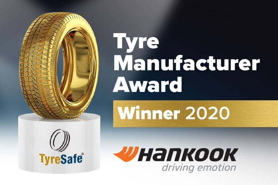 Hankook Tyre UK wins TyreSafe's Tyre Manufacturer of the Year Award for the second consecutive time
