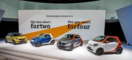 Doppelweltpremiere bei Smart: Fortwo und Forfour sollen Absatzkrise beenden