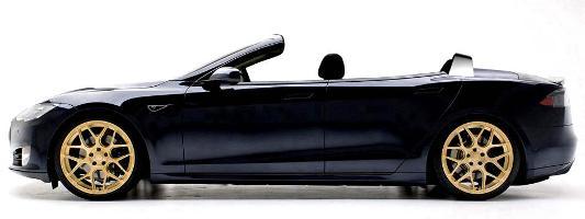Tesla Model S Convertible Cabriolet: Luxusstromer für Freiluftfans