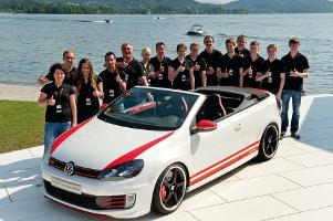 """Azubi-Tuning bei VW: Golf GTI Cabrio """"Austria"""" feiert Premiere am Wörthersee"""
